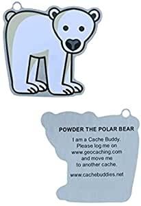 Powder the Polar Bear Travel Tag - Trackable Tag Eisbär