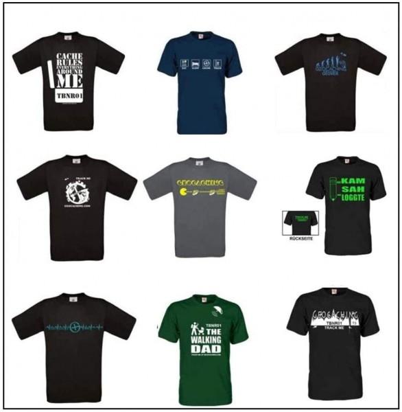 T-Shirt Konfigurator - Trackbar T-Shirts - eigene Tb Nr. möglich - Wunschfarbe Wunschmotiv