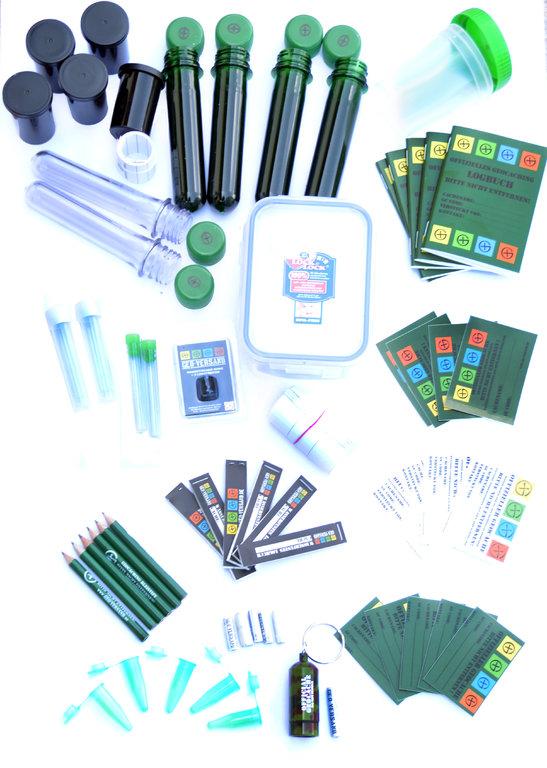 Nano Versteck Petling Logbuch Micro NEU 38 Teile Geocaching Behälter Paket Set