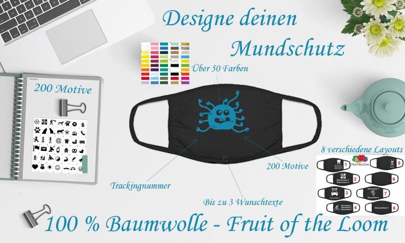 geocaching designe deinen mundschutz corona maske eigenes bild wunschtext