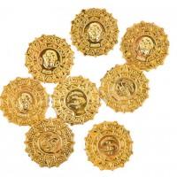 20 x FTF Trade goldene GROßE - Kunststoff Piraten Münzen
