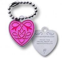 CoinsAndPins® Travel Heart Tag