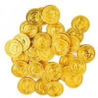 20 x FTF Trade Goldene Kunststoff Piraten Münzen