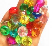 20 x FTF Trade Diamanten Glassteine Piraten Schatz Füllung