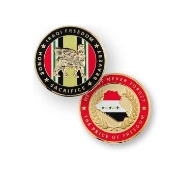 Iraqi Freedom Geocoin - polished gold ABVERKAUF